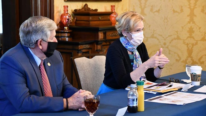 Governor Mike Parson, Cabinet members, state health officials, and community stakeholders were joined by White House Coronavirus Response Coordinator Dr. Deborah Birx for a discussion at the Missouri Governor's Mansion on Tuesday, Aug. 18.