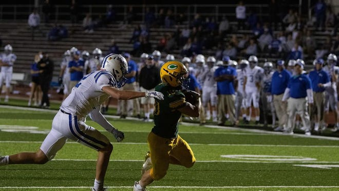 Carroll tailback Hunter Trail navigated one of the toughest regular season schedules in state history with a 5-2 mark. The Golden Eagles beat Miege and Aquinas the past two weeks, each by 20-plus points. [Submitted[