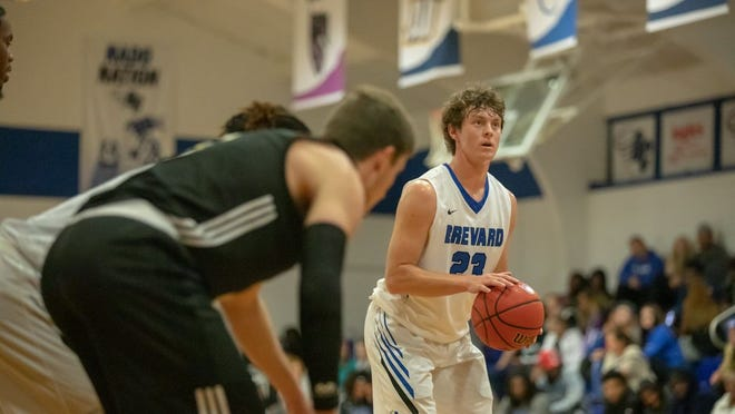 Brevard College's Hayden Cassell gets ready to shoot a free throw during a game last season at Brevard.