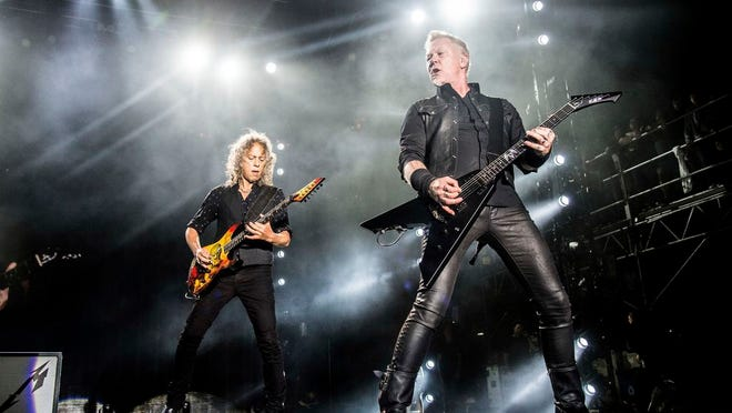Metallica at Rock on the Range in 2017