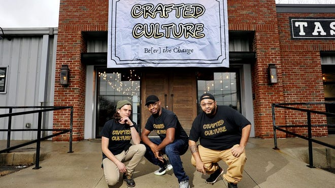 "The ownership group of Gahanna's Crafted Culture Brewing Company, from left: Zac Baaske, Anthony ""Sizzle"" Perry Jr. and Peyton."