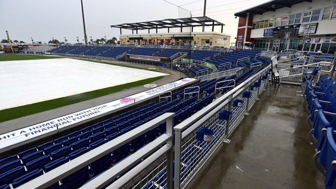 The Pensacola Blue Wahoos game has been postponed until April 26 due to excessive rain.