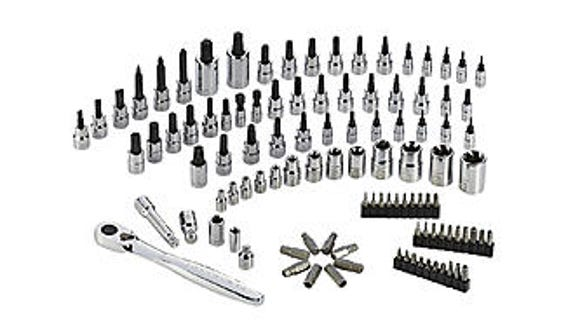 This 105-piece bit and socket set has multiple types and sizes, including just about anything you'd need.