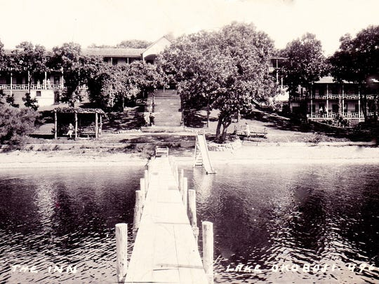 A photo from the 1940s shows The Inn in Okoboji, Iowa. The Inn was later rebuilt in 1957. Those structures will be demolished in March.