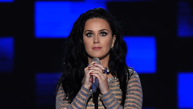 Katy Perry performs on the last night of the DNC.