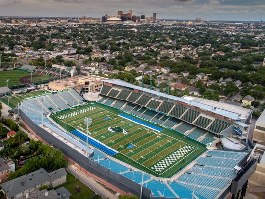 Yulman Stadium, home of the Tulane Green Wave