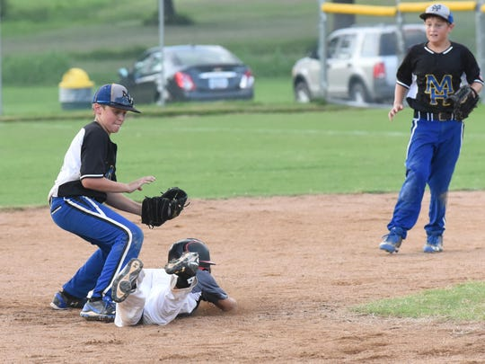 Mountain Home Youth Baseball players compete in a tournament at Clysta Willett Park in this file photo.
