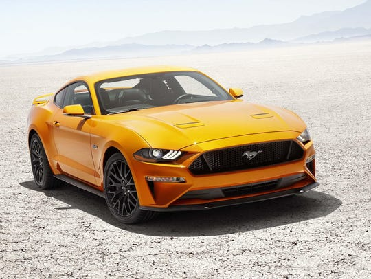 The 2018 Mustang gets a new front end and lower hood