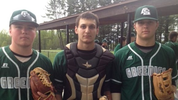 Christ School's Ryan Zwier, Anthony Vaglica and David Easterling.