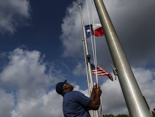 AP POLICE SHOOTINGS PROTEST REAX A USA TX