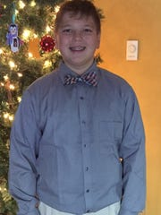 Reporter Dana Benbow's son Davis dressed up to be manager of his 7th grade basketball team.