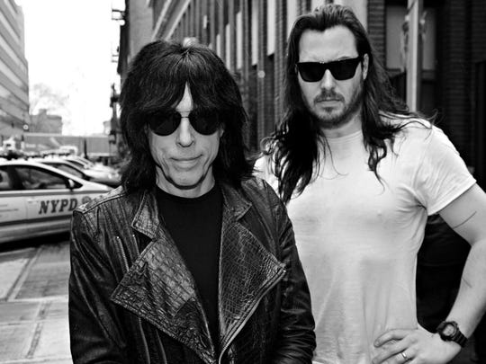 Marky Ramone (left) and Andrew W.K. perform at the Stone Pony on Saturday night.
