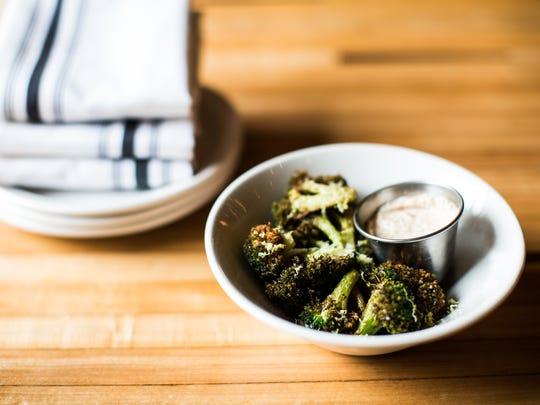 Fried broccoli at Pinewood Social.