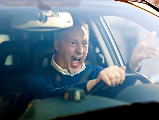 Road rage stock