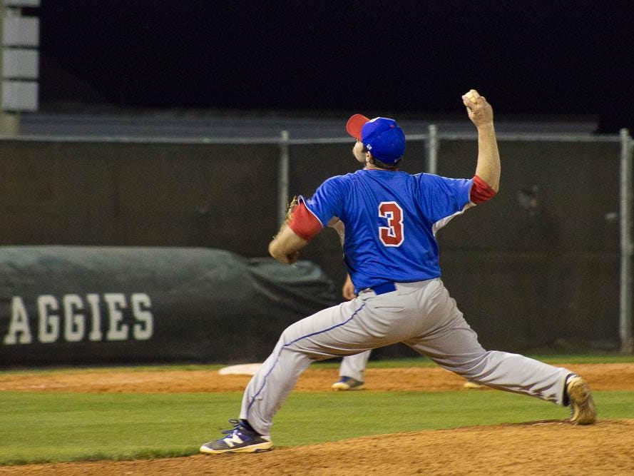 Pace's Ashton Stephens delivers a pitch during Pace's 9-5 win over Tate on Wednesday night.