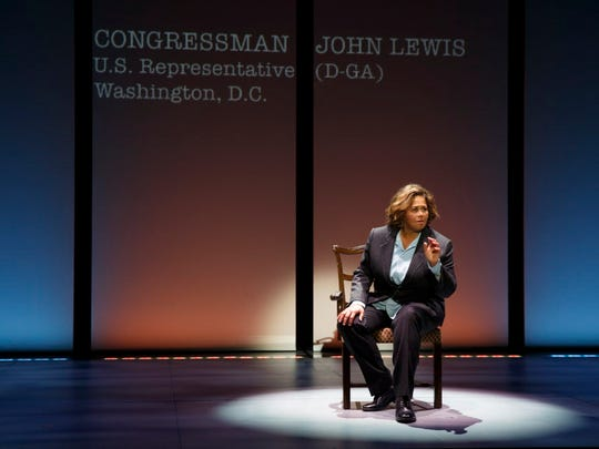 "Anna Deavere Smith in ""Notes from the Field."""
