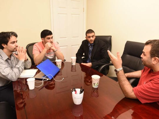 Yassine Elkaryani, Ahmed Abaras, Islam Sery and Bader Risheg gathered in Hackensack on Nov. 19 to talk helping other Muslims get involved in the community.