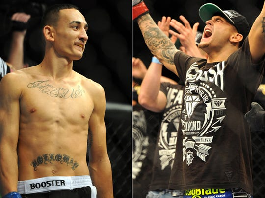 Dustin Poirier will fight a rematch with Max Holloway in April for the interim lightweight belt. USA TODAY Sports