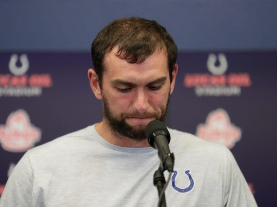Andrew Luck announced his retirement from the NFL on Saturday night.