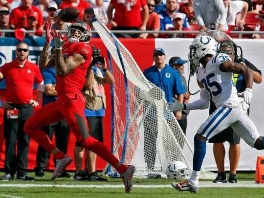 The Colts lost to the Buccaneers in Tampa, Florida.