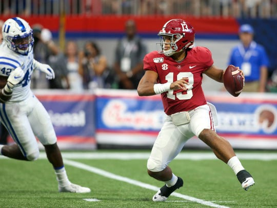 If the Lions draft Tua Tagovailoa, they may sit him for all of 2020 behind Matthew Stafford.