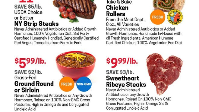 The Sweetheart ribeye steak is available at Earth Fare.