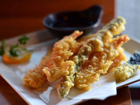 The shrimp and vegetable tempura ($6.95) is an excellent