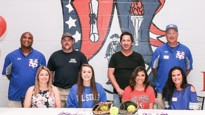 Riley Hallum and Alexandria McFarlin both signed with Vol State Community College to play softball.