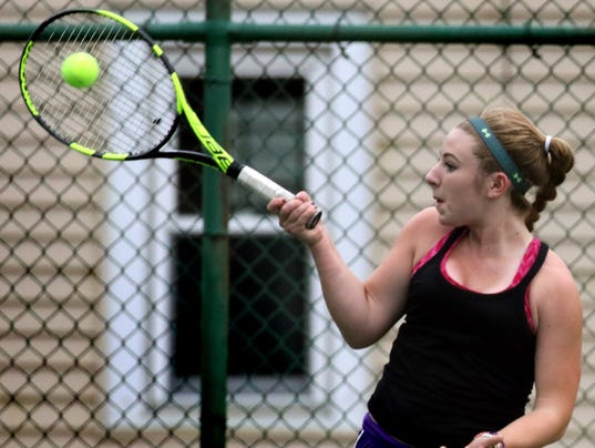 New Berlin Eisenhower Girls Tennis at Shorewood