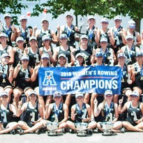 The UCF women's rowing team captured their second consecutive AAC championship.