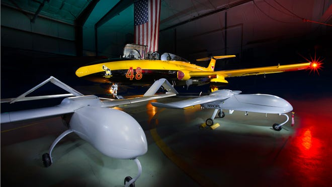 The University of Iowa's Ferox unmanned aircraft vehicles are shown in this undated photo.