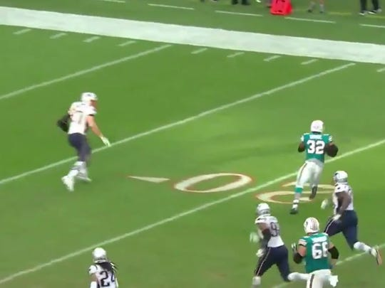 The Dolphins pulled off a miracle win thanks to Rob Gronkowski's awful tackling angle