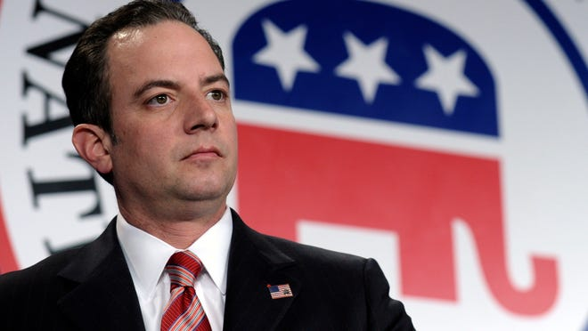 In this Jan. 24, 2014, photo, Republican National Committee chairman Reince Priebus is seen at the RNC winter meeting in Washington. The dueling faces of a conflicted political party were on display for all to see at the just-concluded RNC meeting. The reminder of the divisions comes a year after Priebus published a report aimed at modernizing the party and boosting its ranks, and as Republicans eye their best chance at taking control of both houses of Congress since 2002. (AP Photo/Susan Walsh) ORG XMIT: WX103