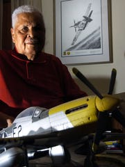 The late Carrol Woods, shown in 2005, was a Tuskegee Airman and Prisoner of War (POW).