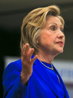 "Hillary Clinton said during a speech at Family Health Centers in Louisville's Portland neighborhood that no family should have to pay more than 10 percent of their income for child care. ""Kentucky did a really good job in getting people connected,"" Clinton said during her speech, referring to Kynect and the her support for the federal health law. ""If it ain't broke, don't mess with it."""