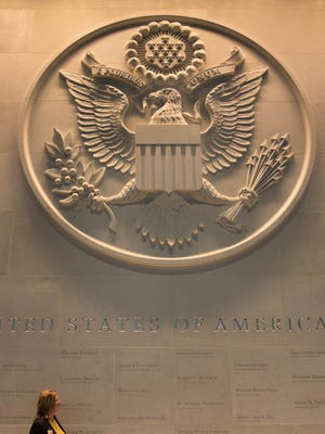A large Department of State embossed seal.
