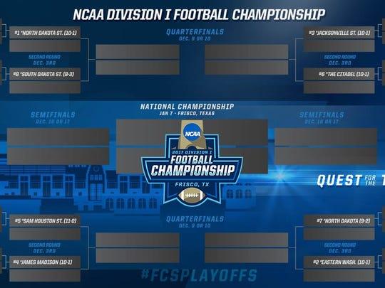 The FCS playoff bracket