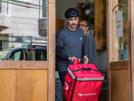 Door Dash, an online restaurant delivery platform, debuted in Reno on Aug. 1, 2018.