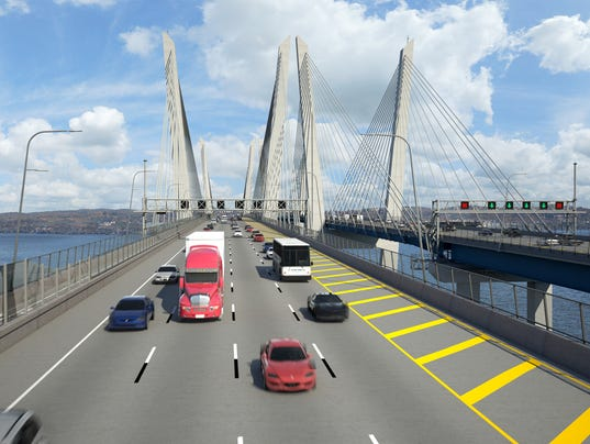 Image result for the new tappan zee bridge current construction