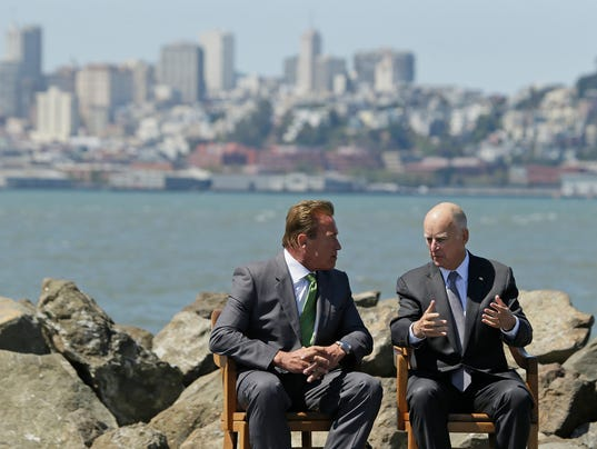 Jerry Brown, Arnold Schwarzenegger