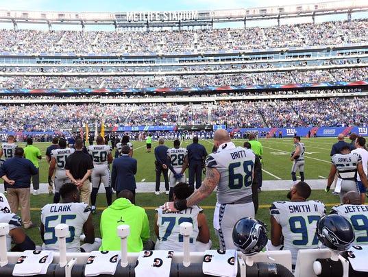USP NFL: SEATTLE SEAHAWKS AT NEW YORK GIANTS S FBN NYG SEA USA NJ