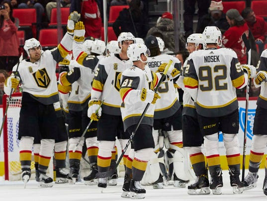 USP NHL: VEGAS GOLDEN KNIGHTS AT DETROIT RED WINGS S HKN DET VGK USA MI