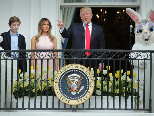 President Trump And Melania Trump Host White House Easter Egg Roll