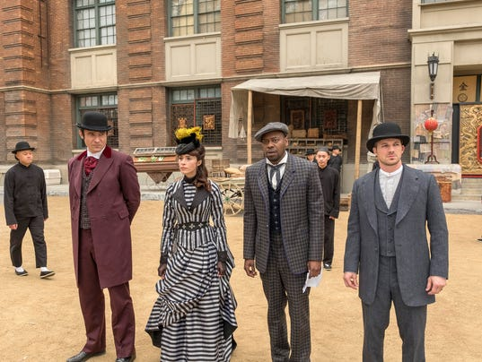 The 'Timeless' crew made a stop in 1880s San Francisco in Sunday's Season 2 finale. (From left: Goran Visnjic, Abigail Spencer, Malcolm Barrett and Matt Lanter)(Photo: Ron Batzdorff/NBC)