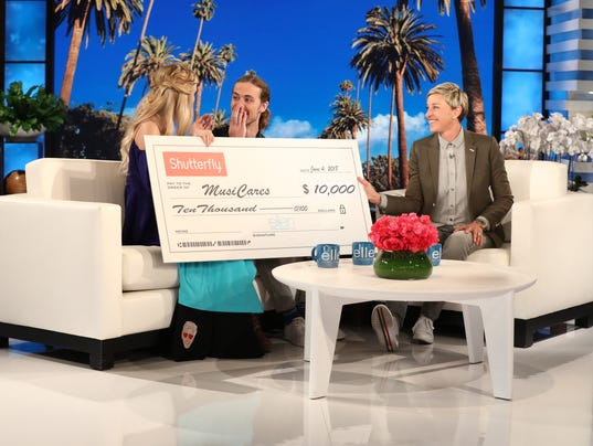 Kristi Platillero, David Francisco, Ellen DeGeneres