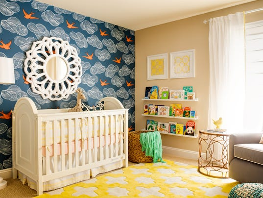 Yellow and Blue Room: J&J design