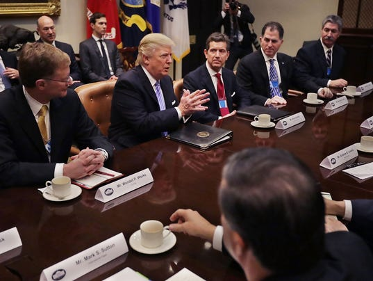 Trump pledges major 39 border tax 39 in ceo meeting at the for E house manufacturers usa