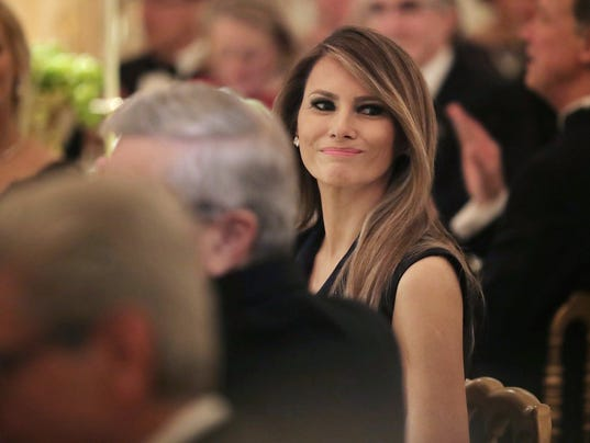 First lady Melania Trump played hostess Sunday for her first formal soirée  at the White House, the annual Governors Ball, where triumphant Republicans  ...