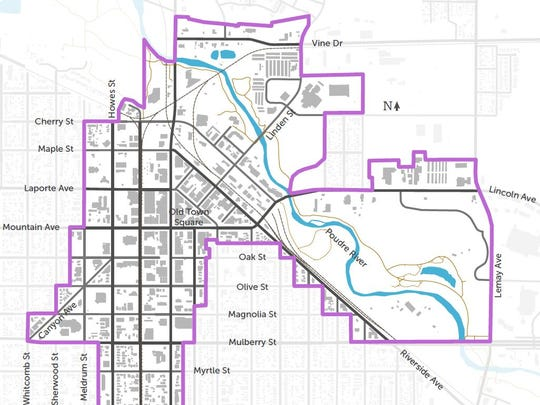 The draft Downtown Plan for Fort Collins extends the area covered by the document beyond the historic core of the city.