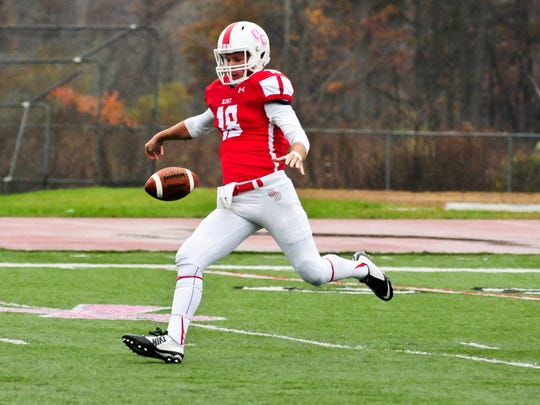 Olivet College punter Ryan Anderson is finishing his football career at Rutgers.